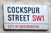 Cockspur Street sign