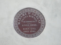 Burney plaque