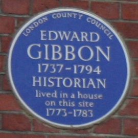 Edward Gibbon plaque