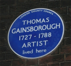 Gainsborough plaque