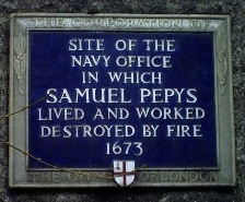 Pepys Seething Lane plaque