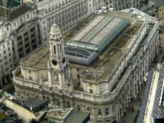 Royal Exchange aerial view
