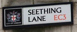 Seething Lane sign