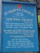 St Olave's plaque
