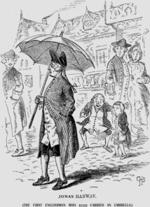 Jonas Hanway with umbrella