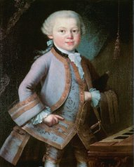 Mozart as a boy