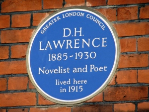 DH Lawrence plaque