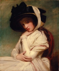 Emma Hamilton painted by George Romney