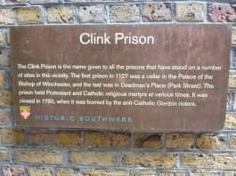 Clink info plaque