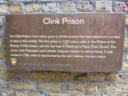 Clink info plaque