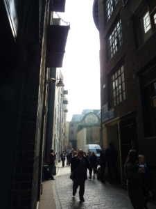 Clink Street and rose window