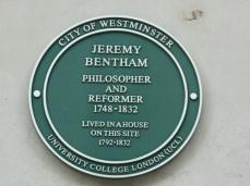 Jeremy Bentham plaque