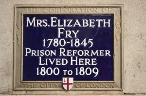 Elizabeth Fry plaque