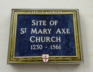 St Mary Axe plaque crop