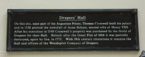 Drapers plaque