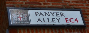 Panyer Alley sign