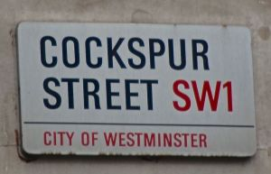 Cockspur Street sign