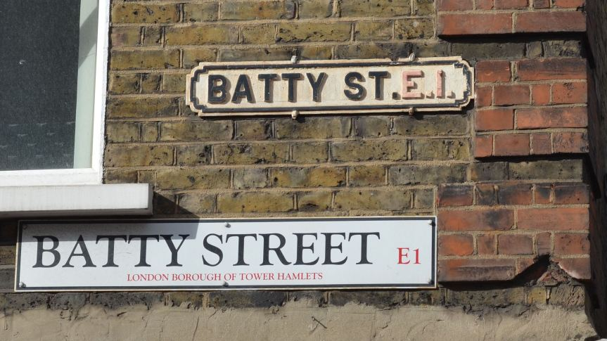 From Batty and Prudent to Sly and Wild: adjectives in London's street names